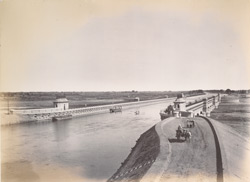 General bird's eye view of aqueduct [Nadrai Aqueduct, Lower Ganges Canal].